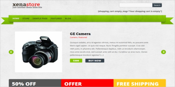 free ecommerce excellent wordpress theme