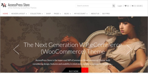 free ecommerce wordpress business design theme