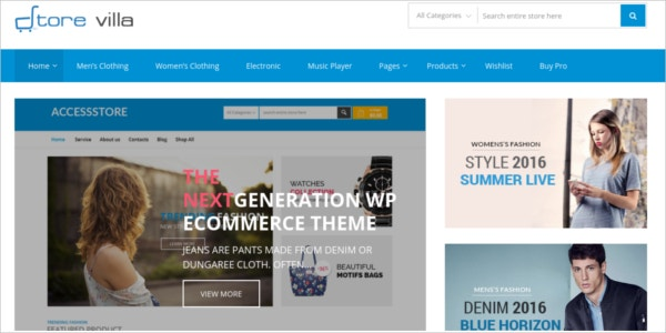 free ecommerce wordpress store business theme