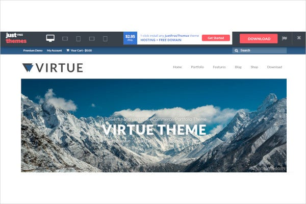 freeresponsive elegant wordpress theme