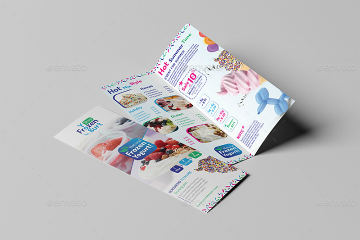 frozen-yogurt-shop-take-out-brochure-template