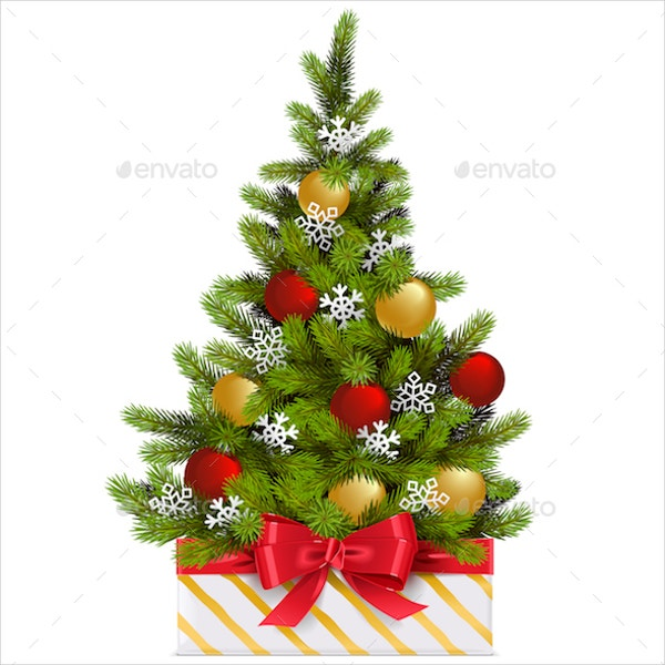 gift box with christmas tree