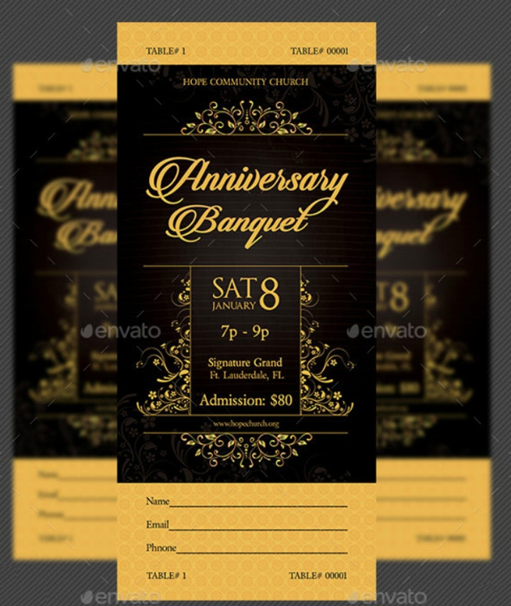 18+ Formal Banquet Ticket Designs and Templates - PSD, Ai ...