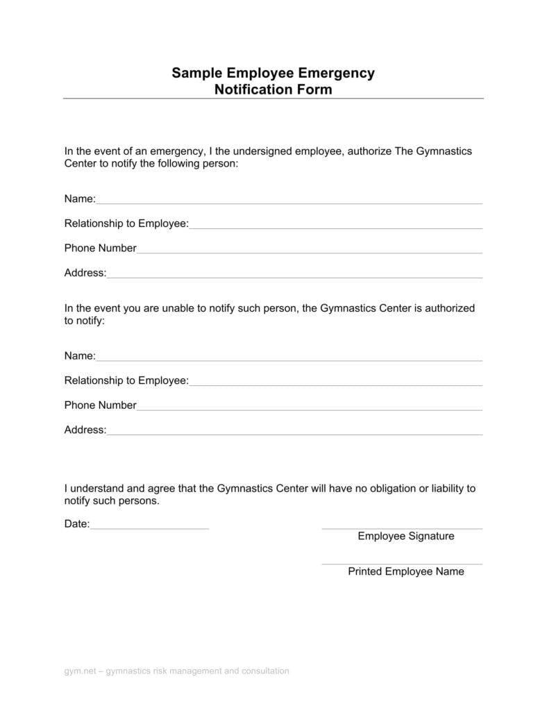 gym-employee-emergency-notification-form
