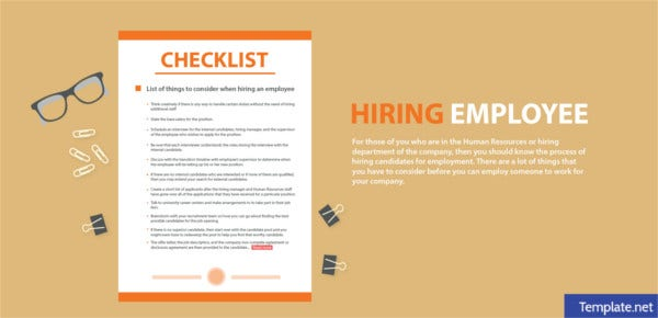 Hiring Employee Checklists