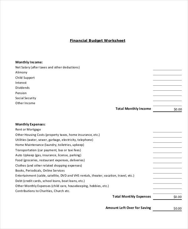 home-finance-budget-worksheet