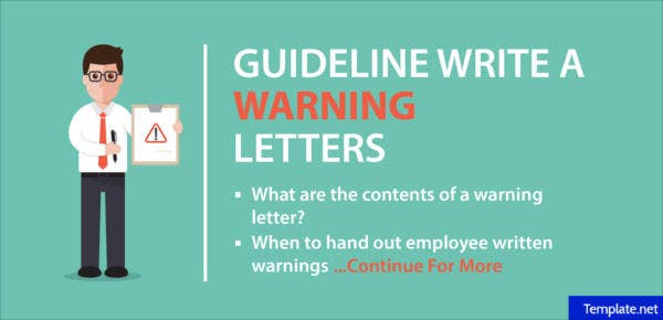 how to write a warning letters