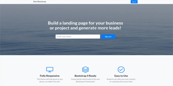 landing-page-bootstrap-4-theme