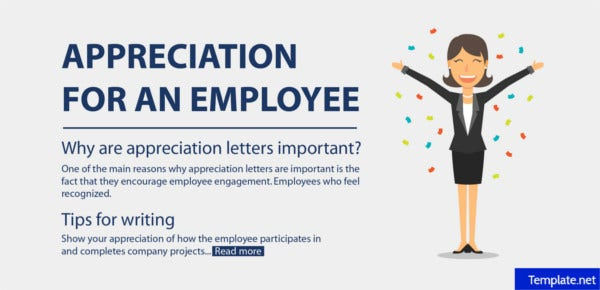 letter of appreciation for an employee