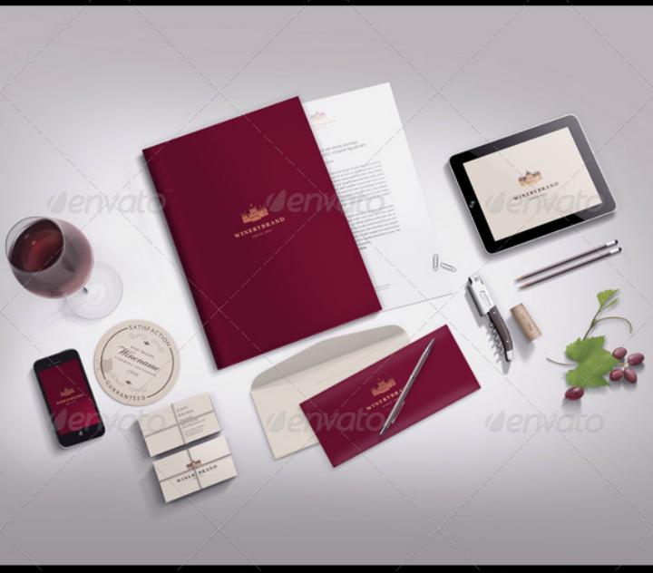 luxury restaurant stationery letterhead template