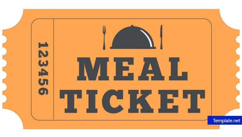 meal ticket template 14  Meal Ticket Designs