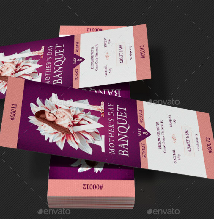 mothers day banquet ticket template