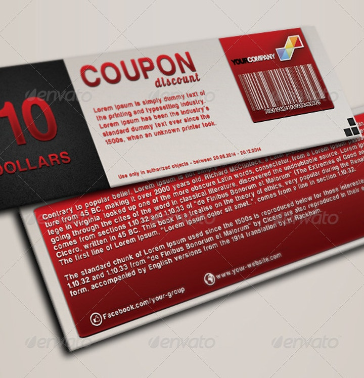 multipurpose discount coupon template