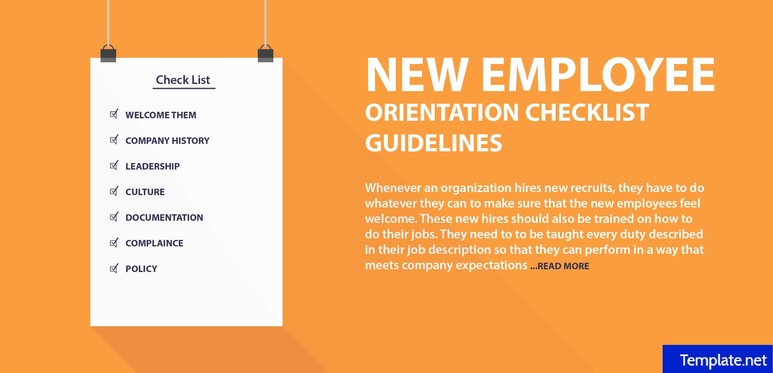 2  new employee orientation checklist templates