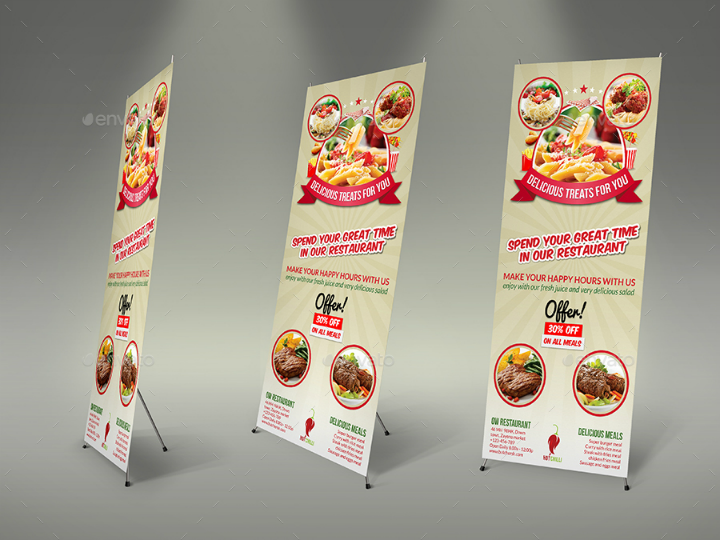noodle and pasta restaurant advertising bundle template