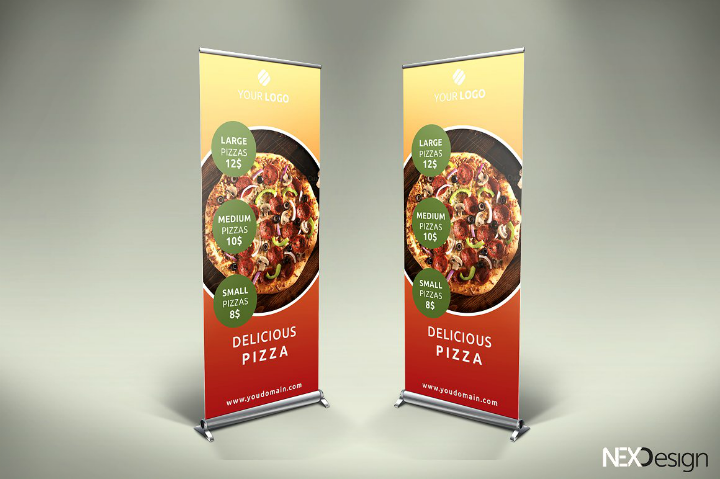 19 Best Restaurant Roll Up Banner Template Free