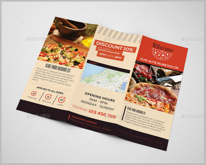 pizza-restaurant-trifold-brochure-template
