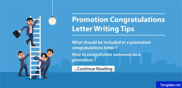 how to write a promotion congratulations letter