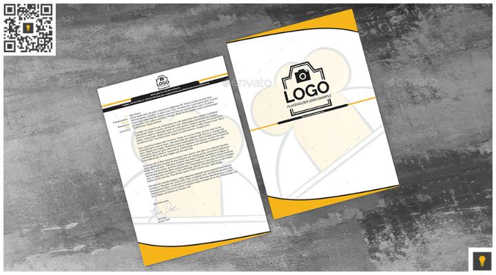 restaurant chefinno corporate letterhead template