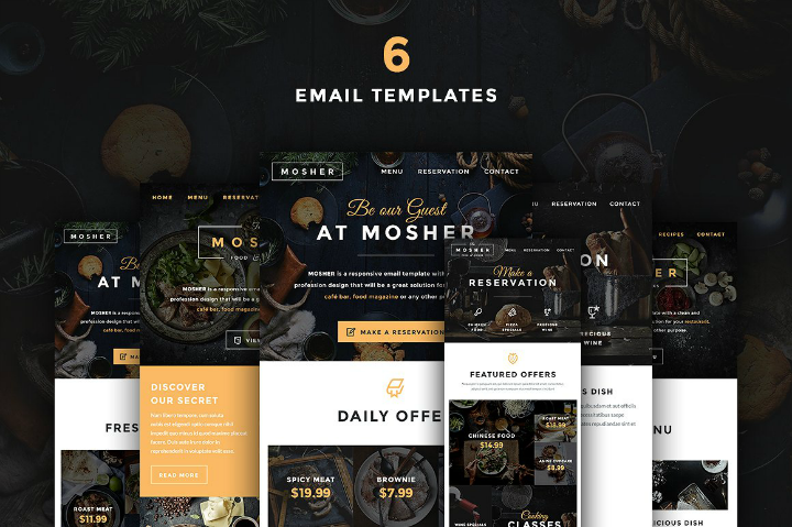 restaurant-email-template-set