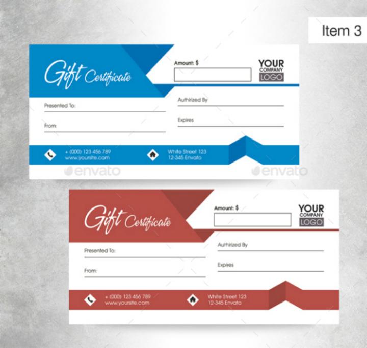 restaurant gift certificate bundle template