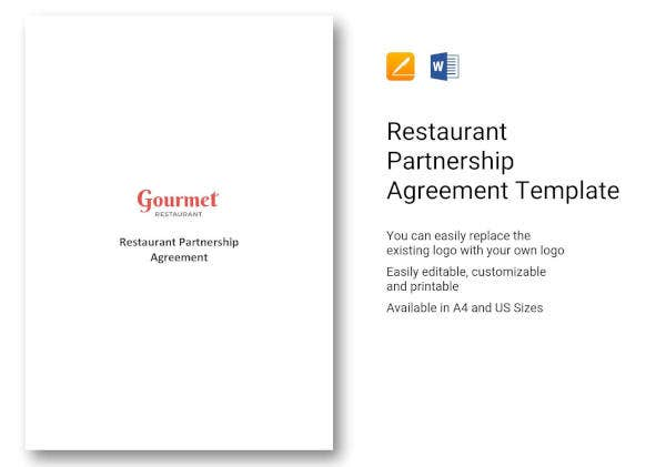 restaurant-partnership-agreement-template