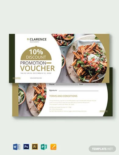 restaurant promotion voucher template