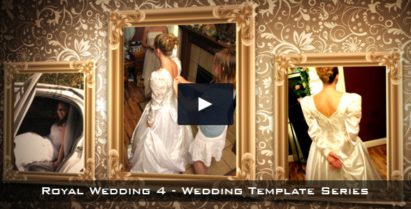 royal wedding after effects template