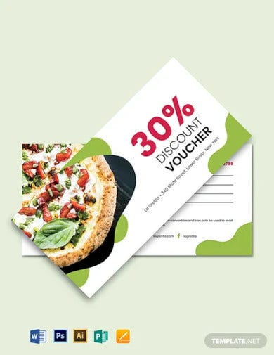 sample restaurant voucher template