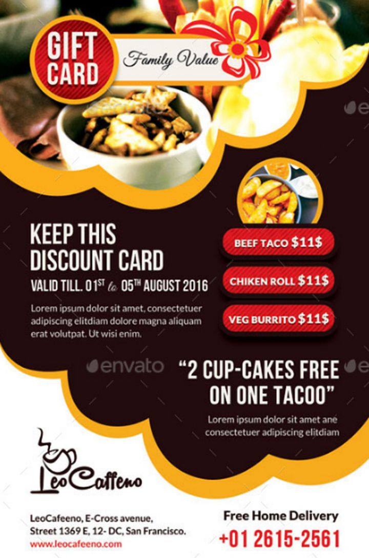 20  appetizing restaurant lunch coupon templates