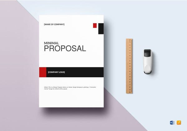 simple minimal proposal template
