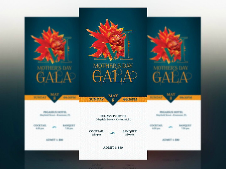 simple mothers day banquet ticket template