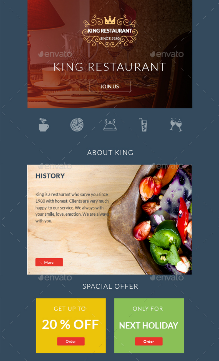 simple-restaurant-email-template