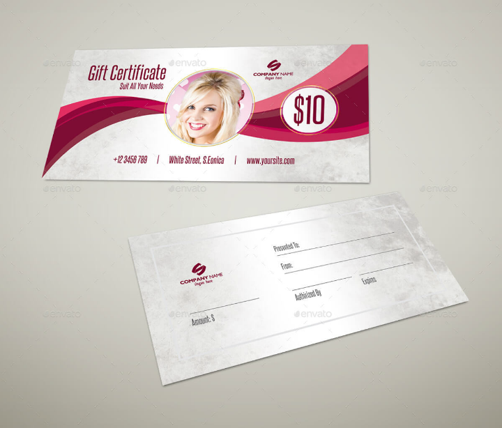 simple restaurant gift certificate template