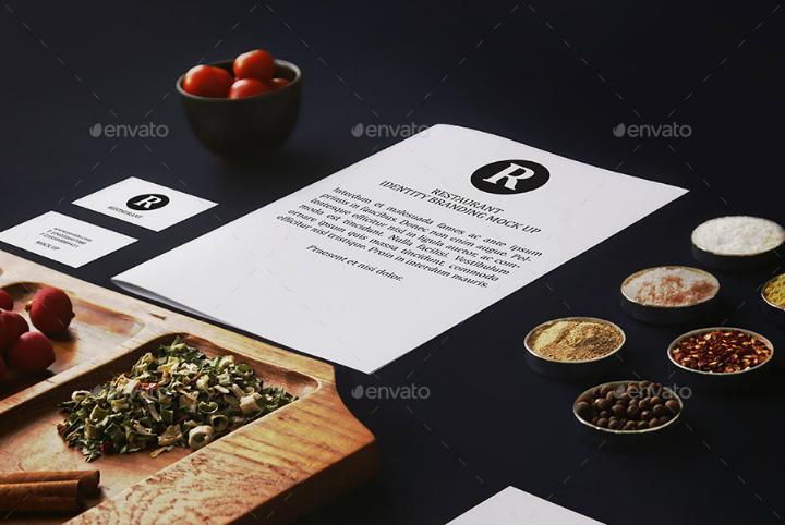 simple restaurant identity branding template
