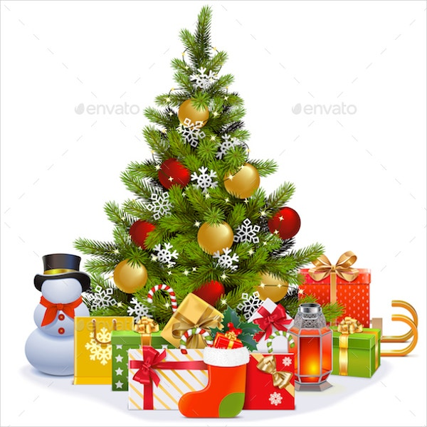 vector-christmas-tree-with-garland