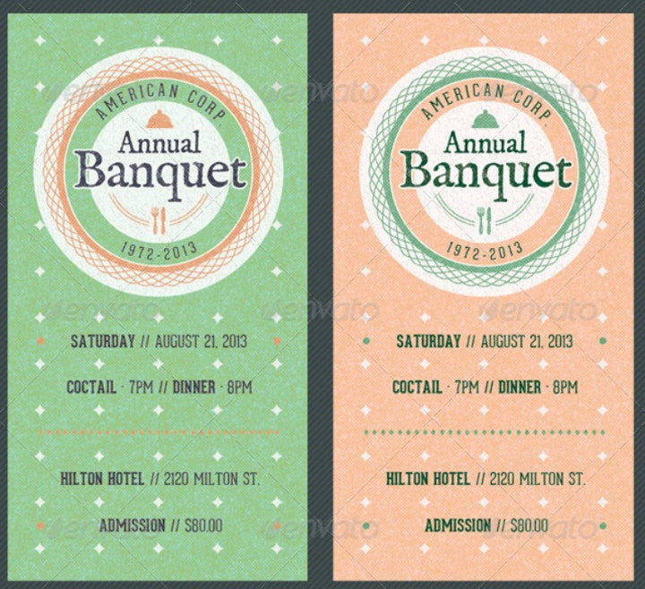 14 banquet ticket designs templates psd ai free premium