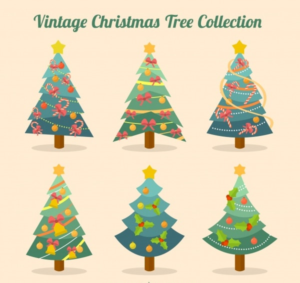vintage christmas tree collection