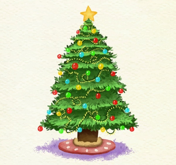 watercolour-christmas-tree