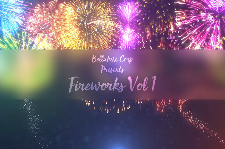 wedding fireworks after effects template