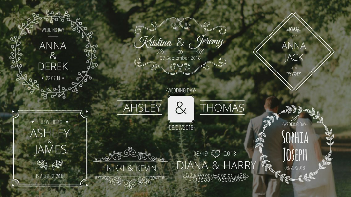wedding names after effects template