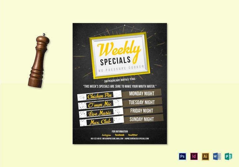 Weekly Special Flyer Design Template