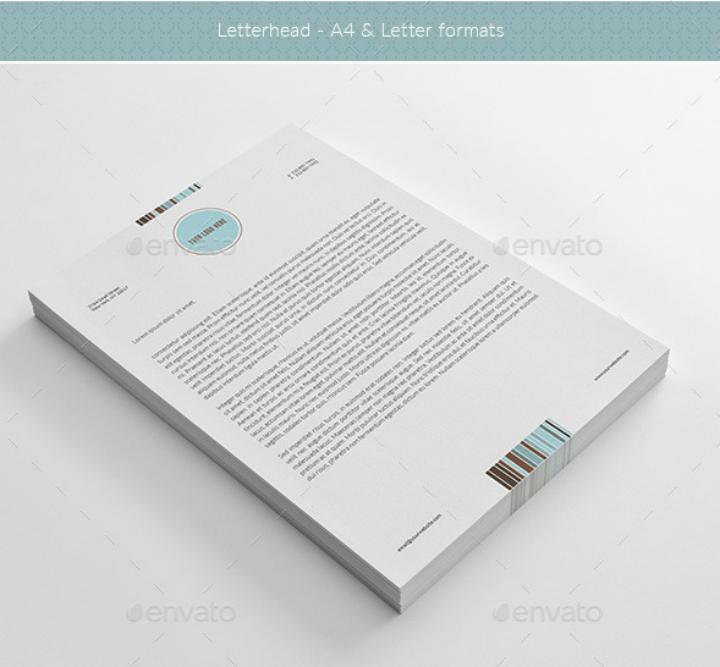 white-restaurant-letterhead-template