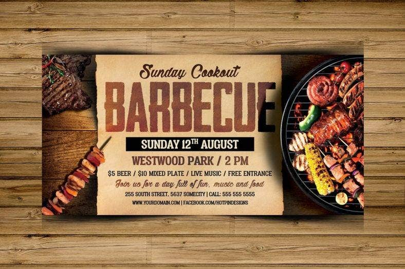 barbecue bbq flyer template 3  788x524