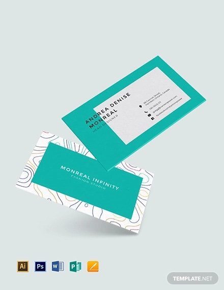 18 Fashion Designer Business Card Templates Ai Pages