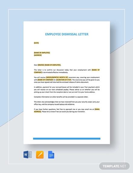 employee dismissal