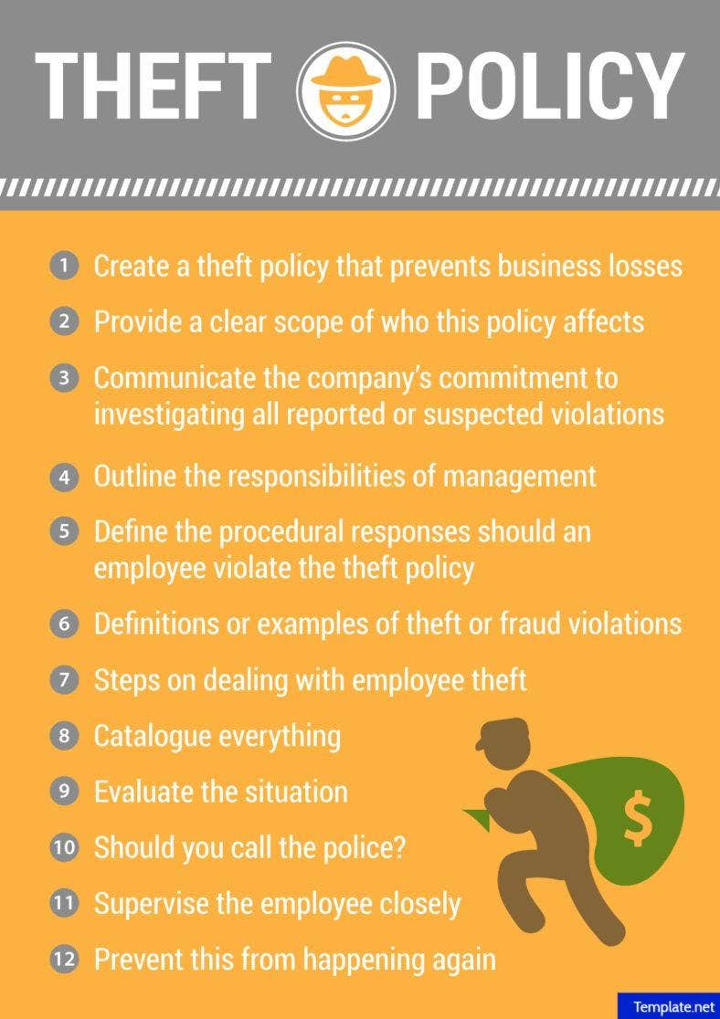 how to make a theft policy free amp premium templates