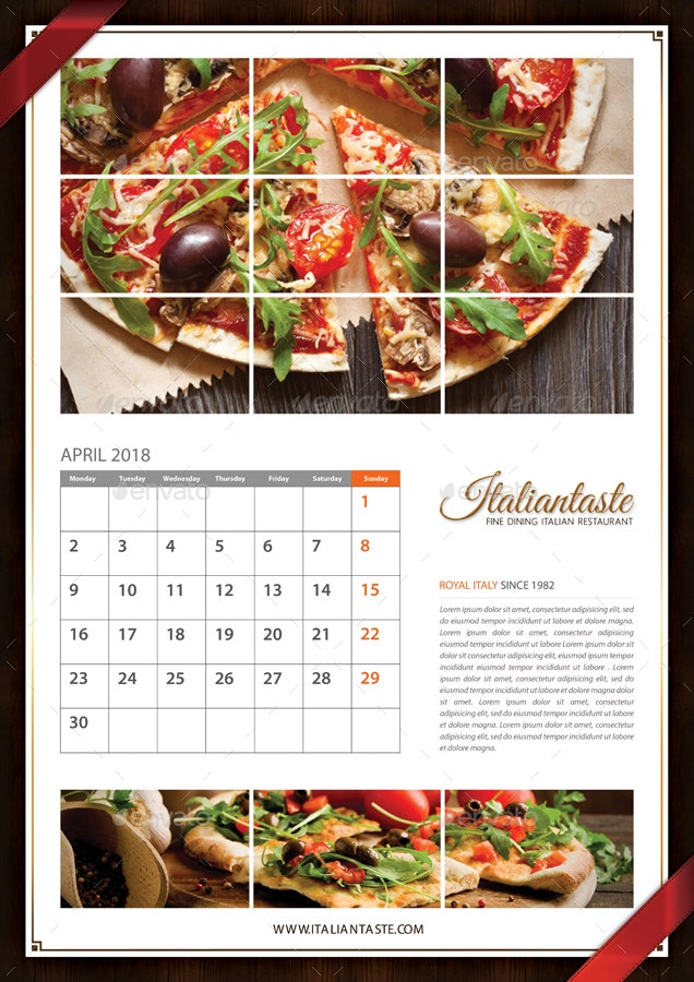 Image result for restaurant calendar