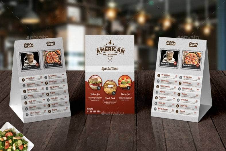 14  restaurant tent card designs  u0026 templates