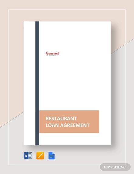 restaurant loan agreement